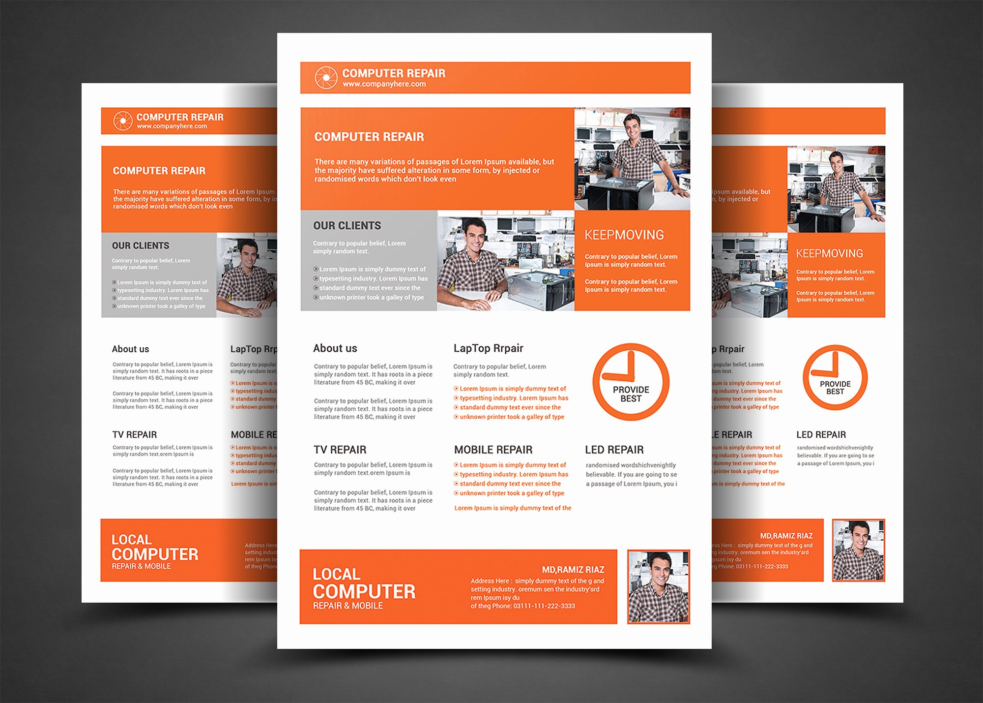 Computer Repair Flyer Template New Puter Repair Flyer Template Flyer Templates On