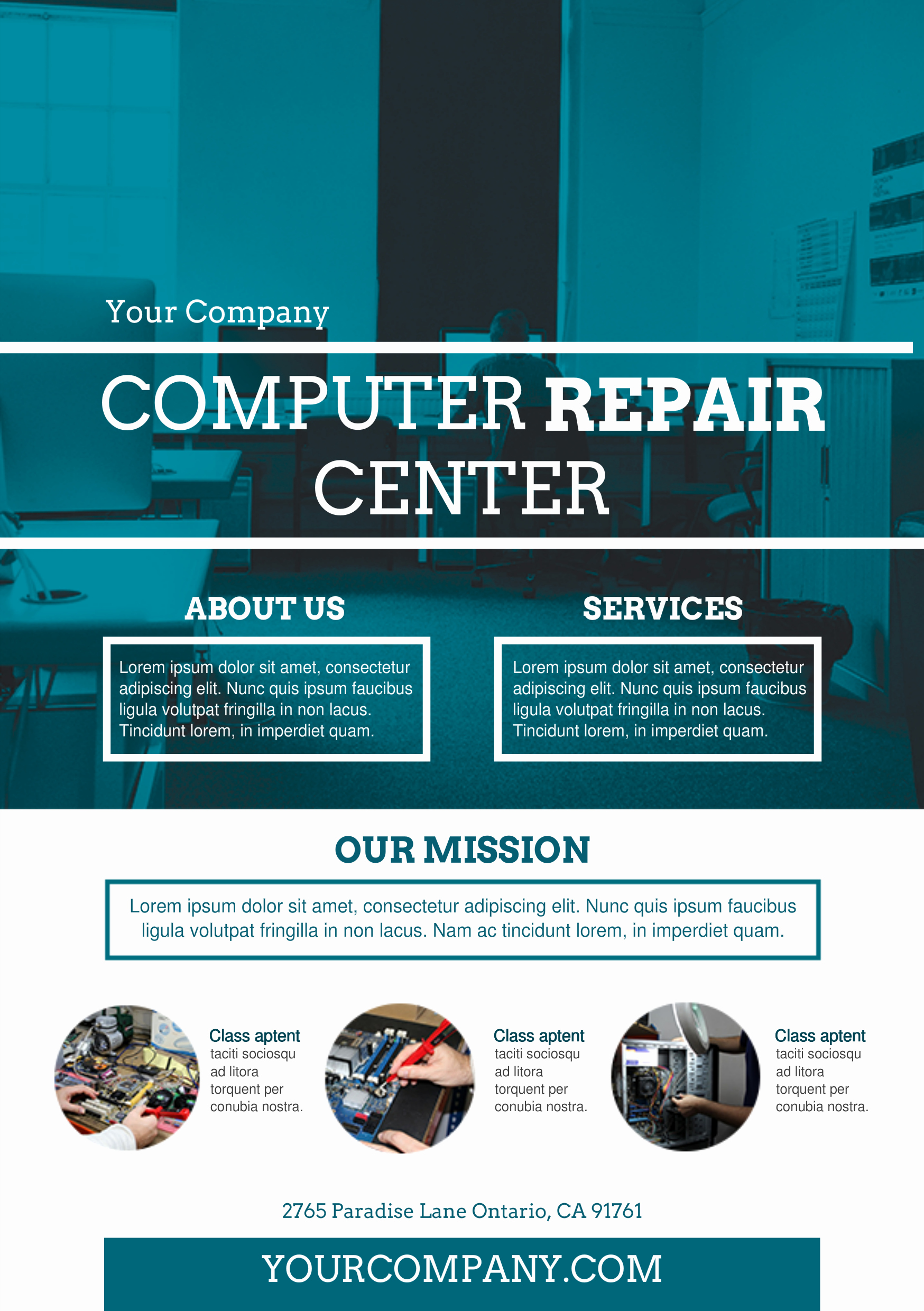 Computer Repair Flyer Template Unique Puter Repair Services A5 Promotional Flyer