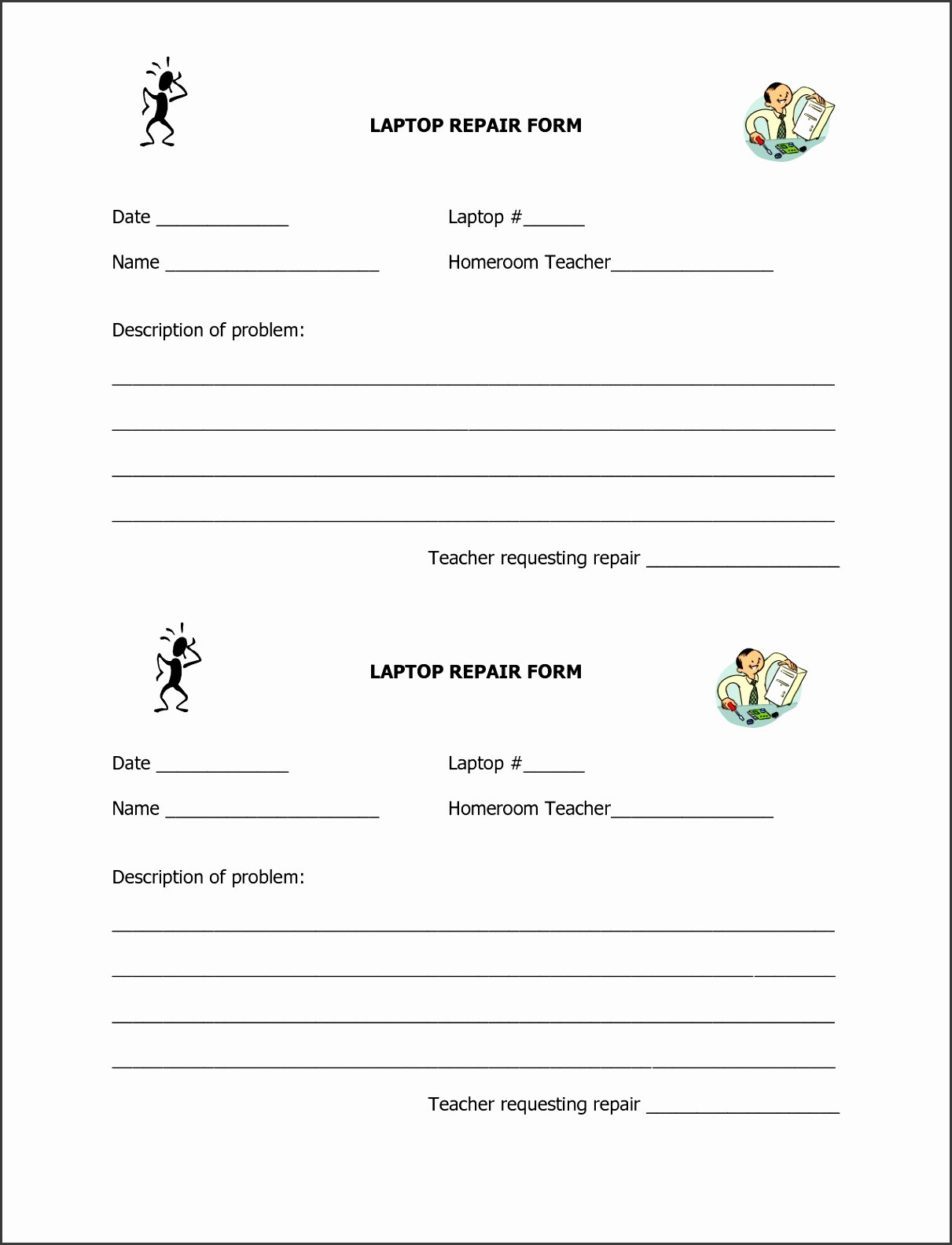 Computer Repair form Template Awesome 6 Puter Repair Request form Template Sampletemplatess