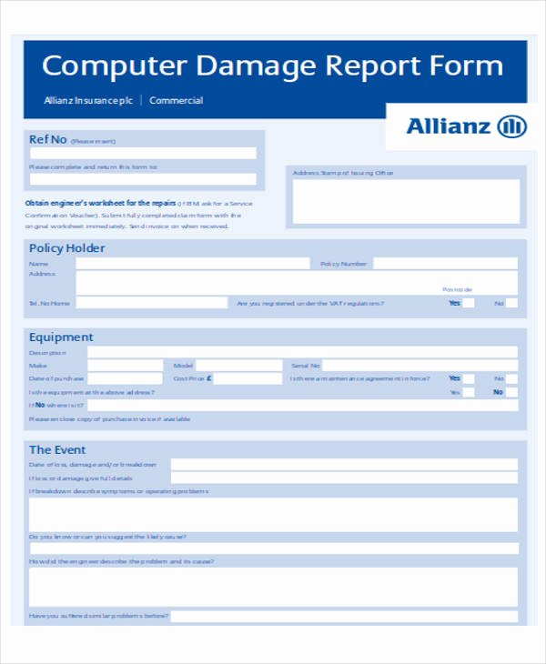 Computer Repair forms Template Fresh 21 Service form formats Pdf Doc