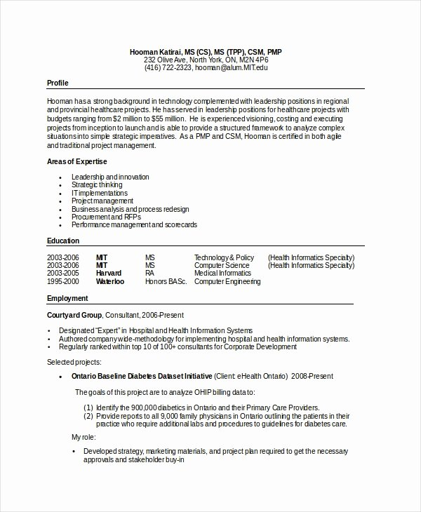 Computer Science Resume Templates Elegant Puter Science Resume Example 9 Free Word Pdf
