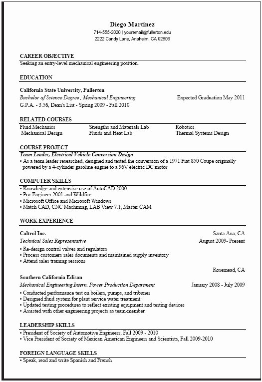 Computer Science Resume Templates Lovely Puter Science Resume Templates Samplebusinessresume