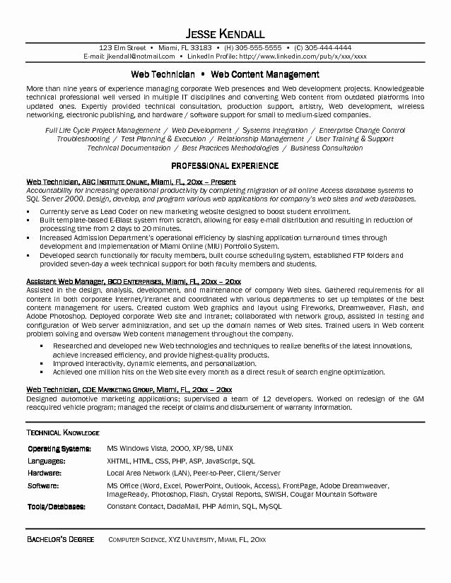 Computer Science Resume Templates New Puter Science Resume Sample You Have to Prepare