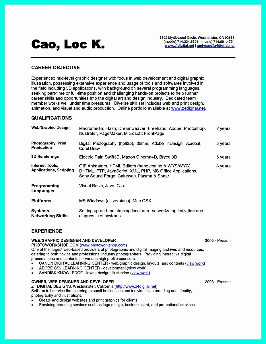 Computer Science Resume Templates Unique the Best Puter Science Resume Sample Collection