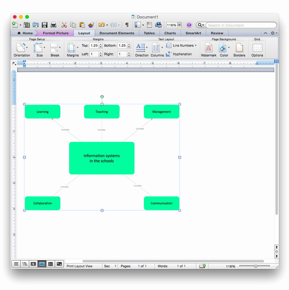 Concept Map Template Word Beautiful Add A Concept Map to A Ms Word Document Conceptdraw Helpdesk