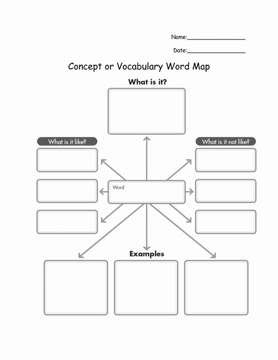Concept Map Template Word Elegant Mind Map Template for Word