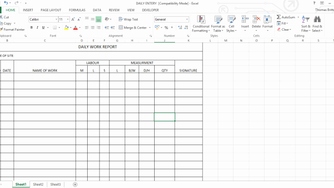 Construction Daily Report Template Excel Elegant Daily Work Report Excel Sheet Engineering Feed