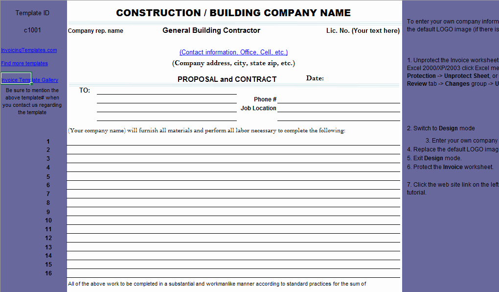 Construction Proposal Template Free Elegant Construction Proposal Template