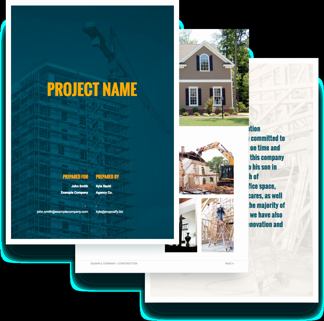 Construction Proposal Template Free New Construction Proposal Template Free Sample