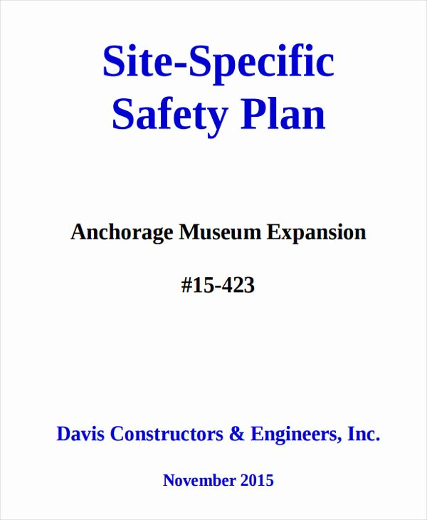 Construction Safety Plan Template Best Of 31 Safety Plan Samples Google Docs Ms Word Apple