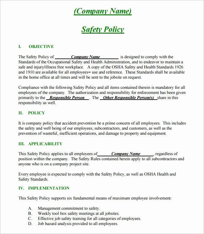 Construction Safety Plan Template Fresh 24 Of Site Safety Plan Template