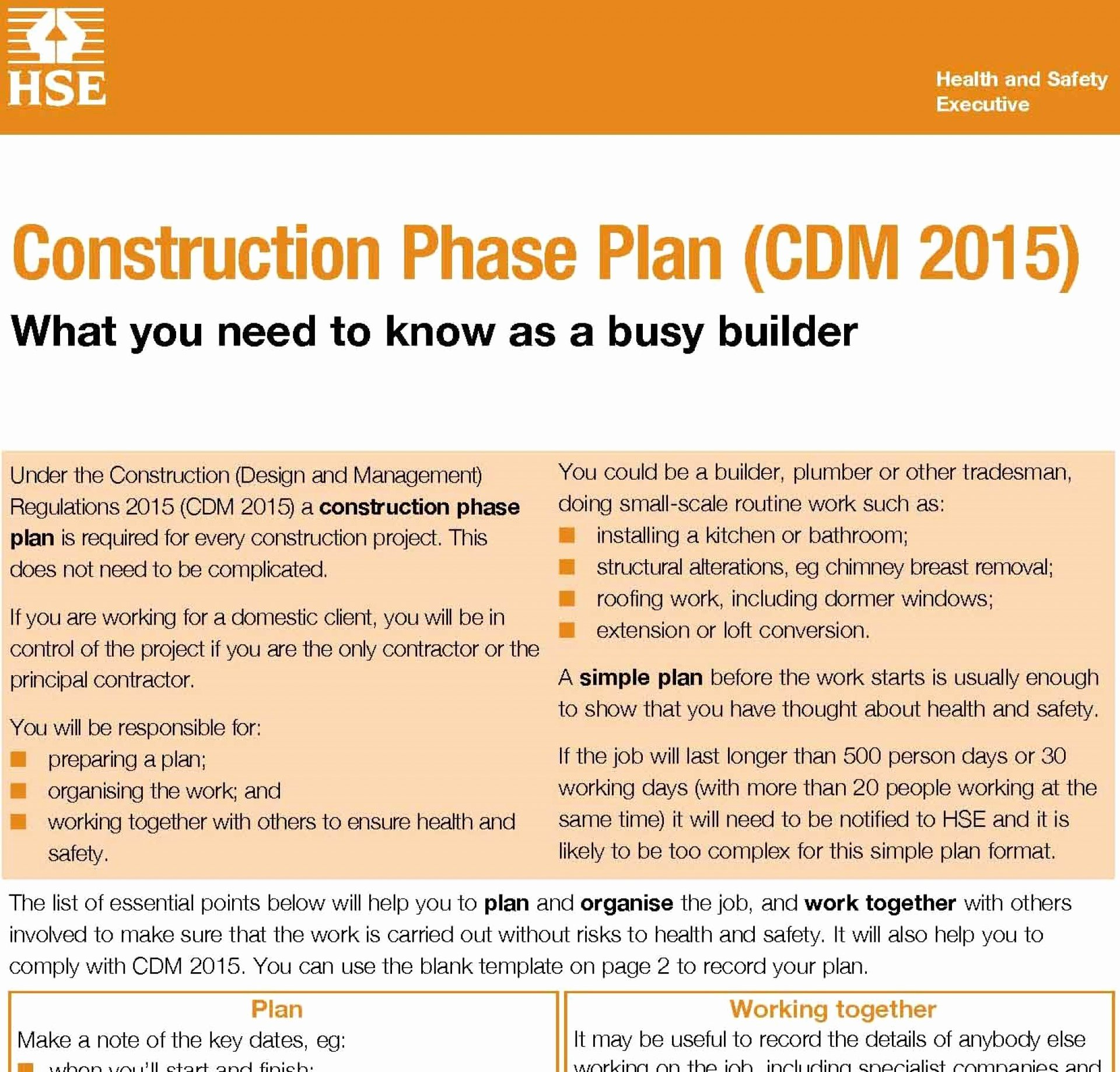 Construction Safety Plan Template Lovely 004 Plan Template Construction Phase Health and Safety