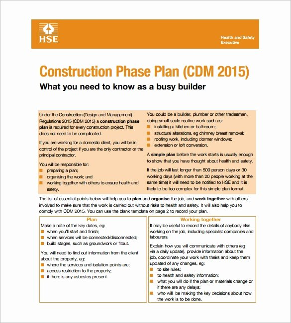 Construction Safety Plan Template Luxury 13 Health and Safety Plan Templates Google Docs Ms