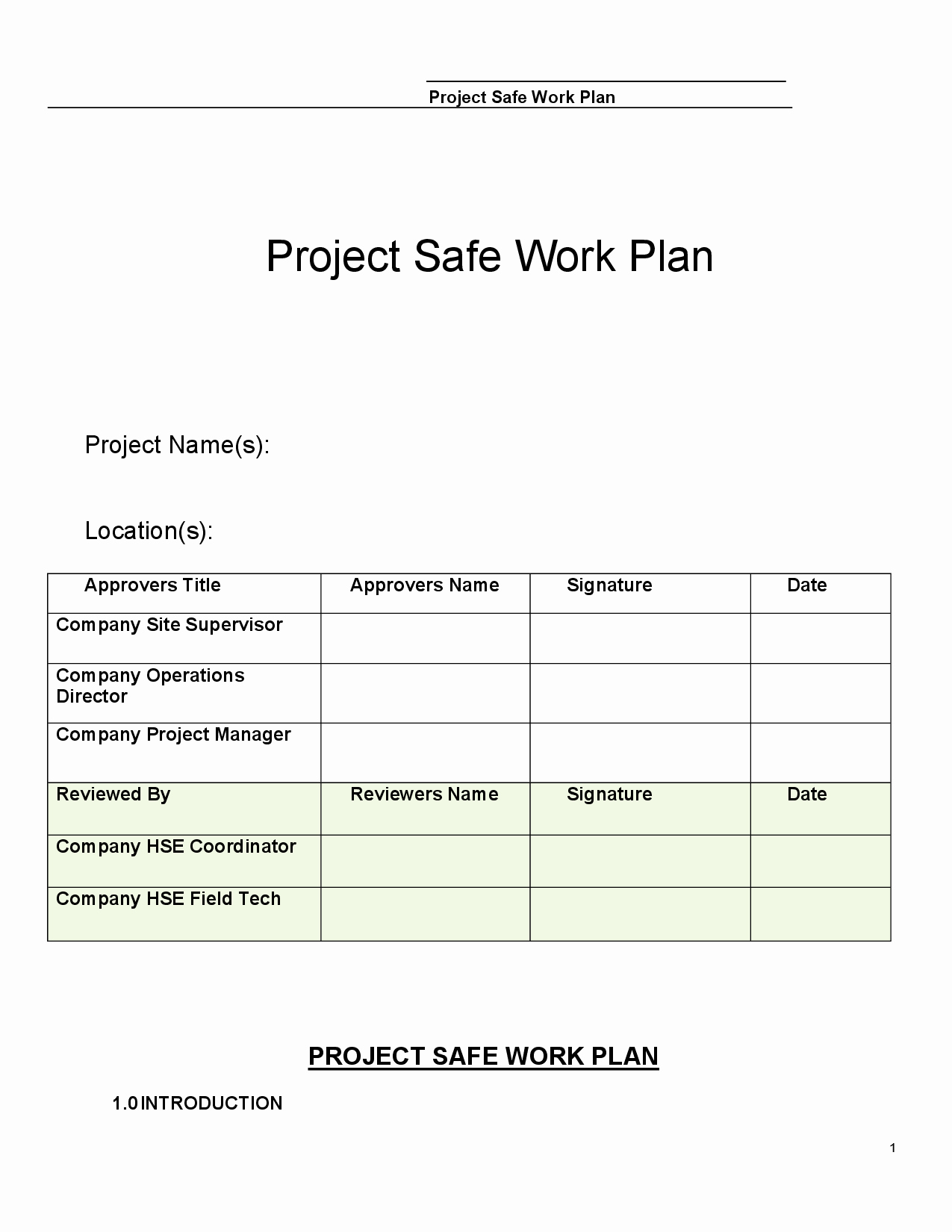Construction Safety Plan Template New 26 Of Construction Safety Plan Template for Word