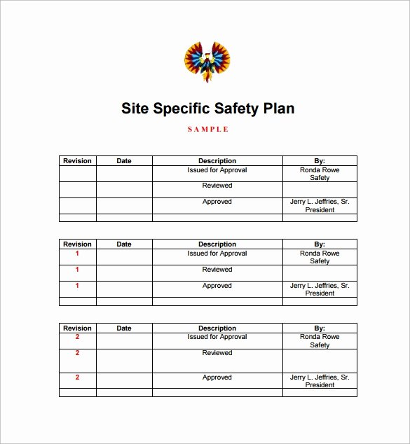 Construction Safety Plan Template New Free 13 Safety Plan Templates In Free Samples Examples