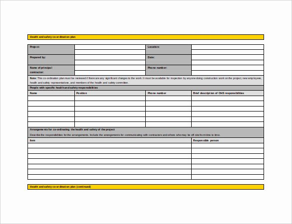 Construction Safety Plan Template Unique 17 Health and Safety Plan Templates Free Sample
