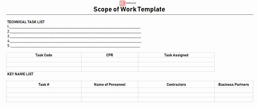 Construction Scope Of Work Template Beautiful Scope Of Work Template In Excel Construction sow Examples