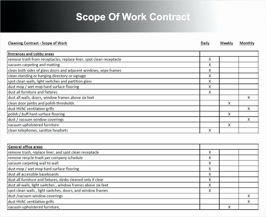 Construction Scope Of Work Template Elegant Scope Of Work Template Pdf