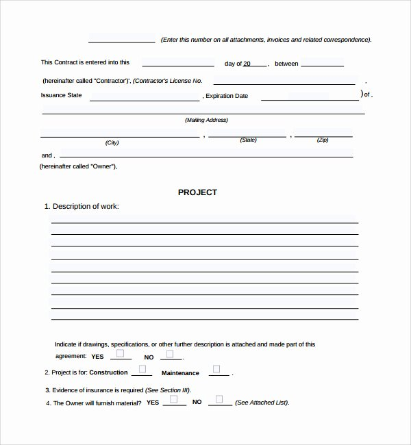Construction Work order Template Beautiful Contractor Work order Template Filename – Guatemalago