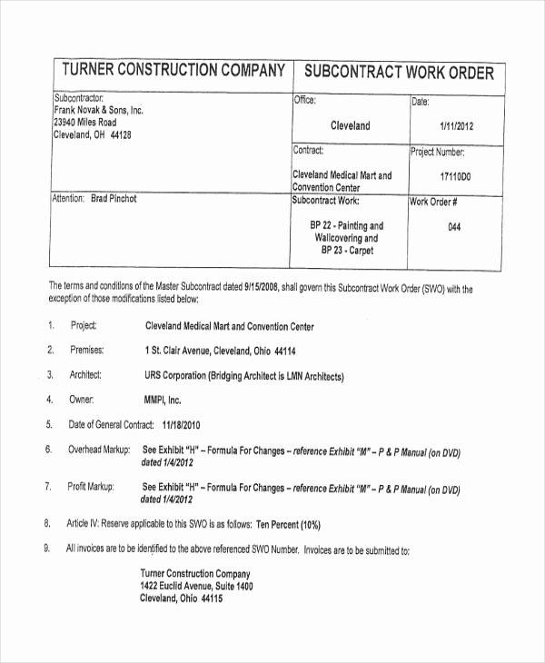 Construction Work order Template Inspirational 28 Work order Templates Ai Psd