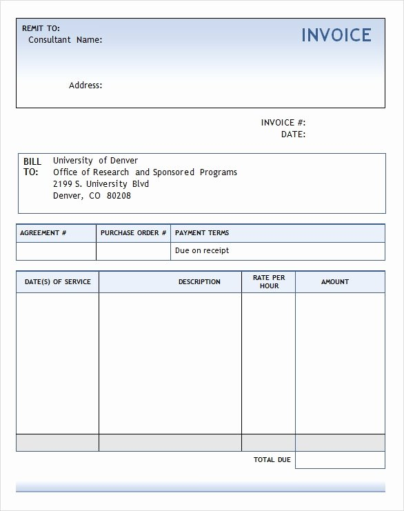 Consulting Invoice Template Word Beautiful Consulting Invoice Template 7 Free Download for Word Pdf