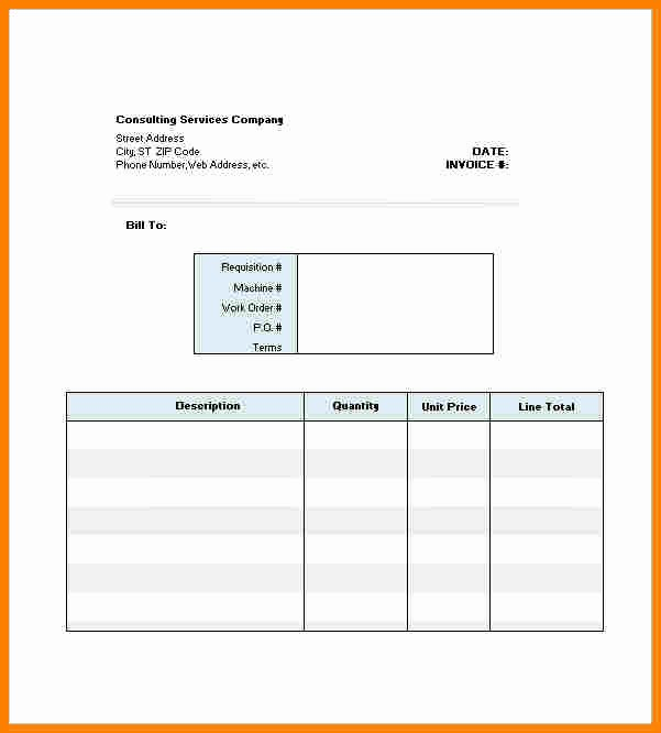 Consulting Invoice Template Word Luxury 9 Consultant Bill format In Word