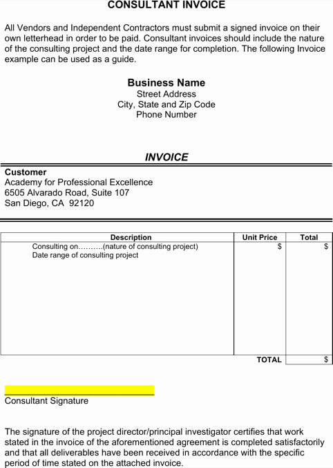 Consulting Invoice Template Word Luxury Consultant Invoice Template Templates&forms