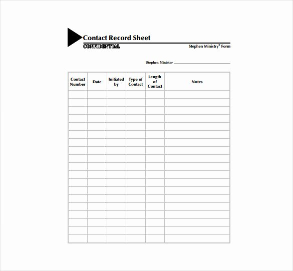 Contact List Template Pdf Beautiful Contact Sheet Template 16 Free Excel Documents Download