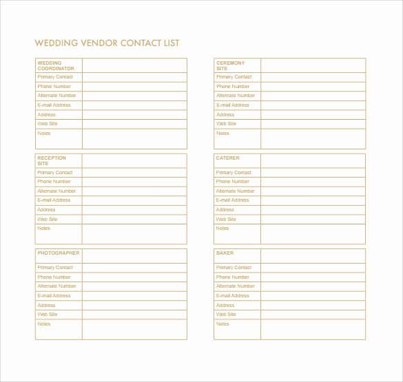Contact List Template Pdf Luxury Free 12 Contact List Templates In Pdf