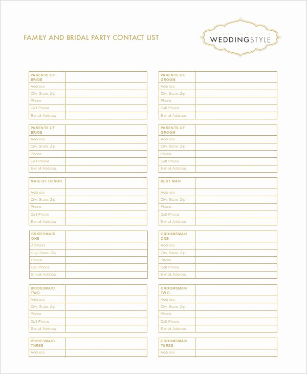Contact List Template Pdf Luxury Free Contact List Template 10 Free Word Pdf Documents