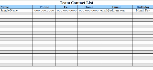 Contact List Template Pdf Unique 24 Free Contact List Templates In Word Excel Pdf