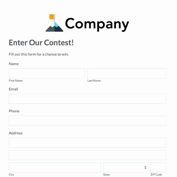 Contest Entry form Template Beautiful solo Ads and Cpa