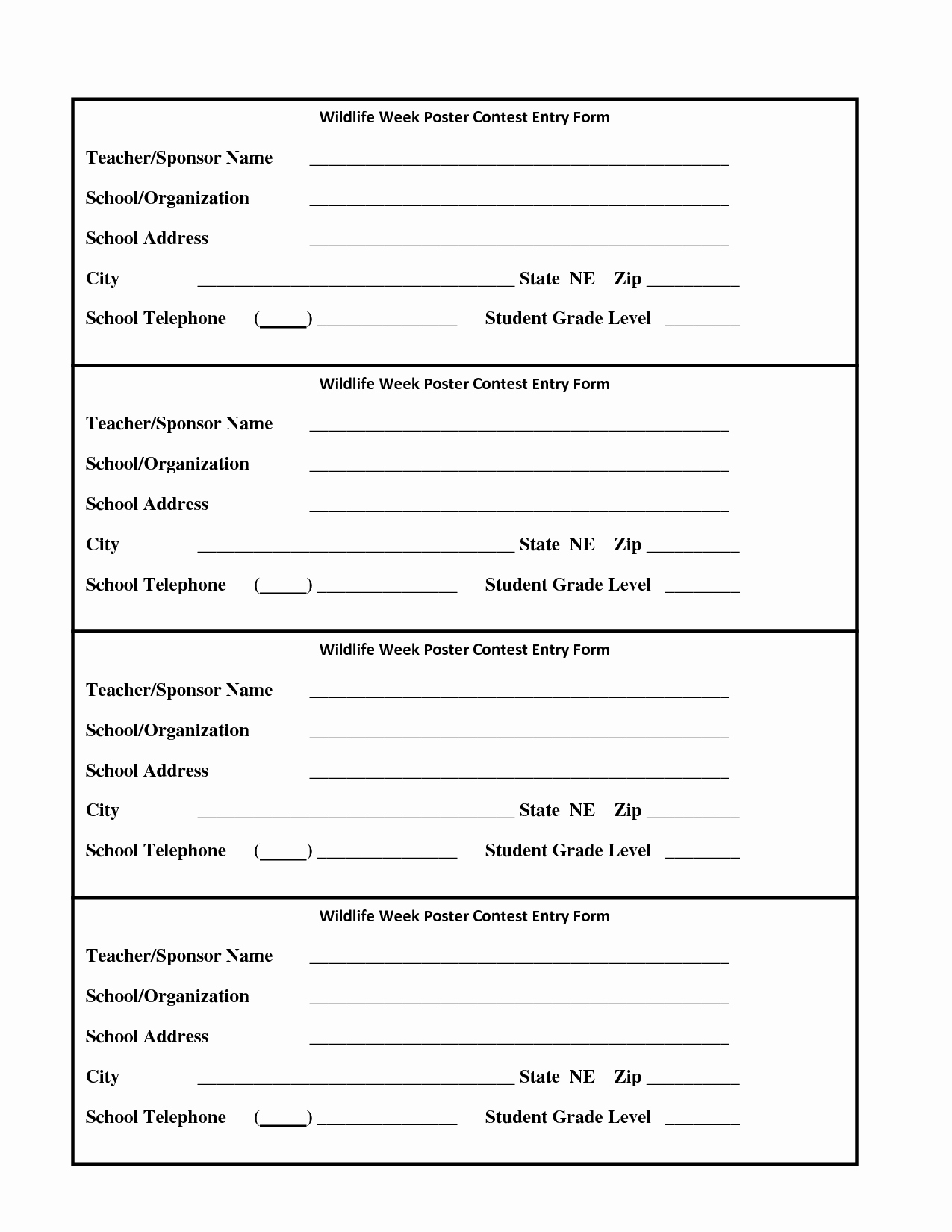 Contest Entry form Template Best Of Raffle Entry form Template