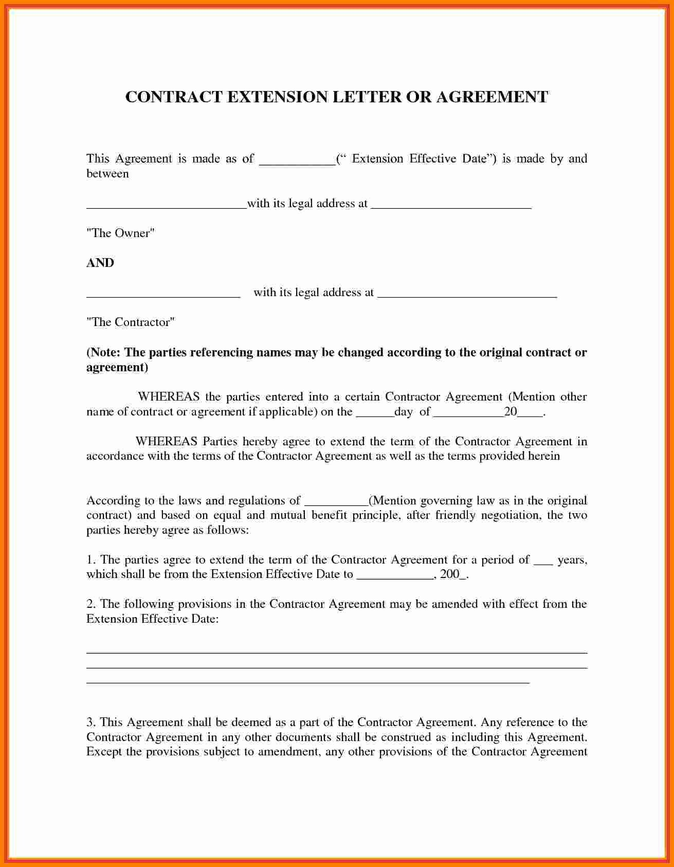 Contract Template Between Two Parties Fresh 5 Agreement Letter Between Two Parties