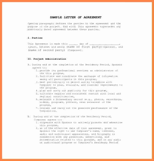 Contract Template Between Two Parties Inspirational 7 Agreement Letter Template Between Two Parties