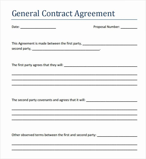 Contract Template Between Two Parties New 5 Contract Agreement Between Two Parties Samples formats