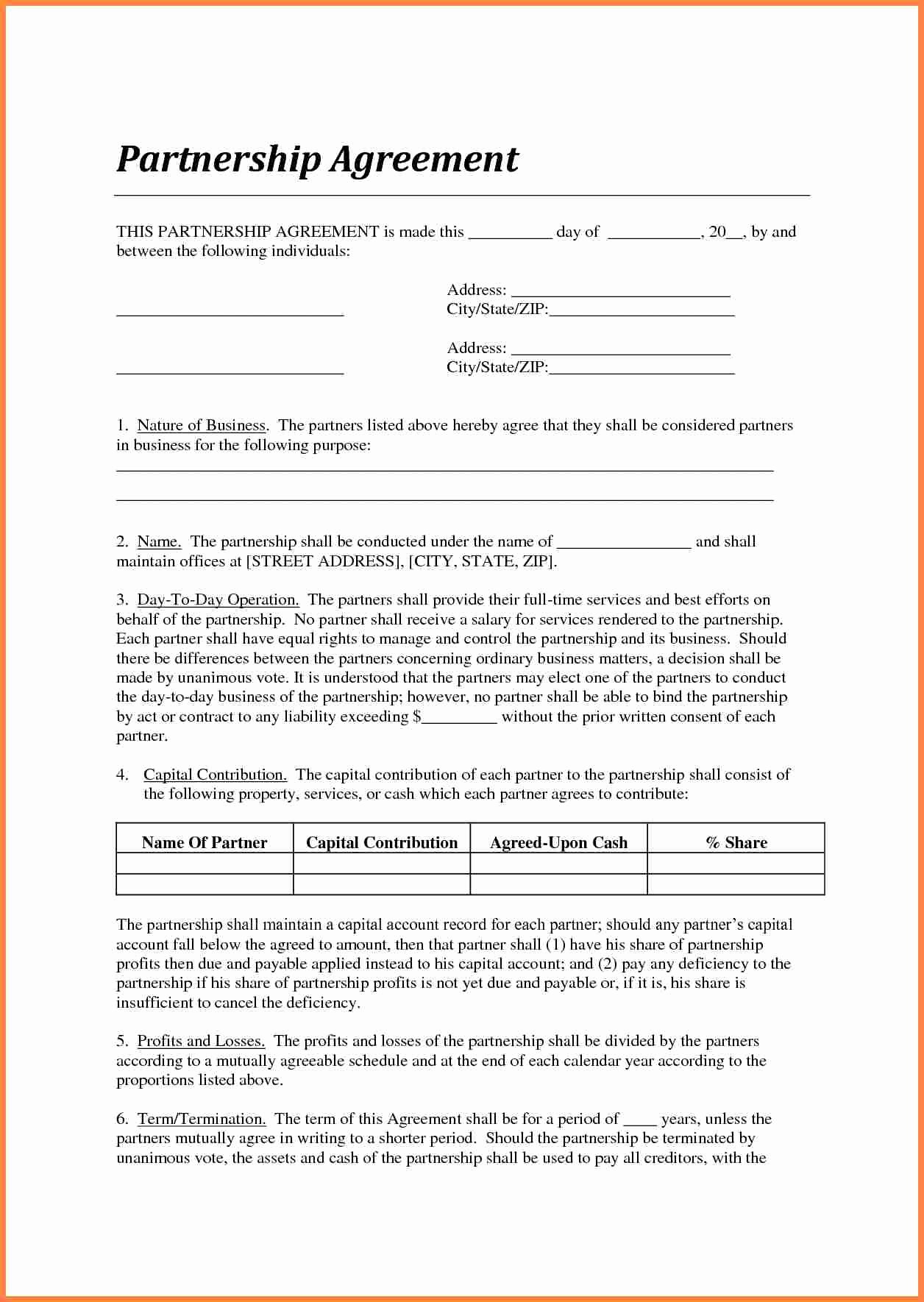 Contract Template Between Two Parties New 7 Agreement Letter Template Between Two Parties