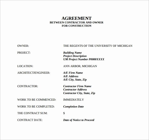Contract Template Between Two Parties New Money Agreement Between Two Parties