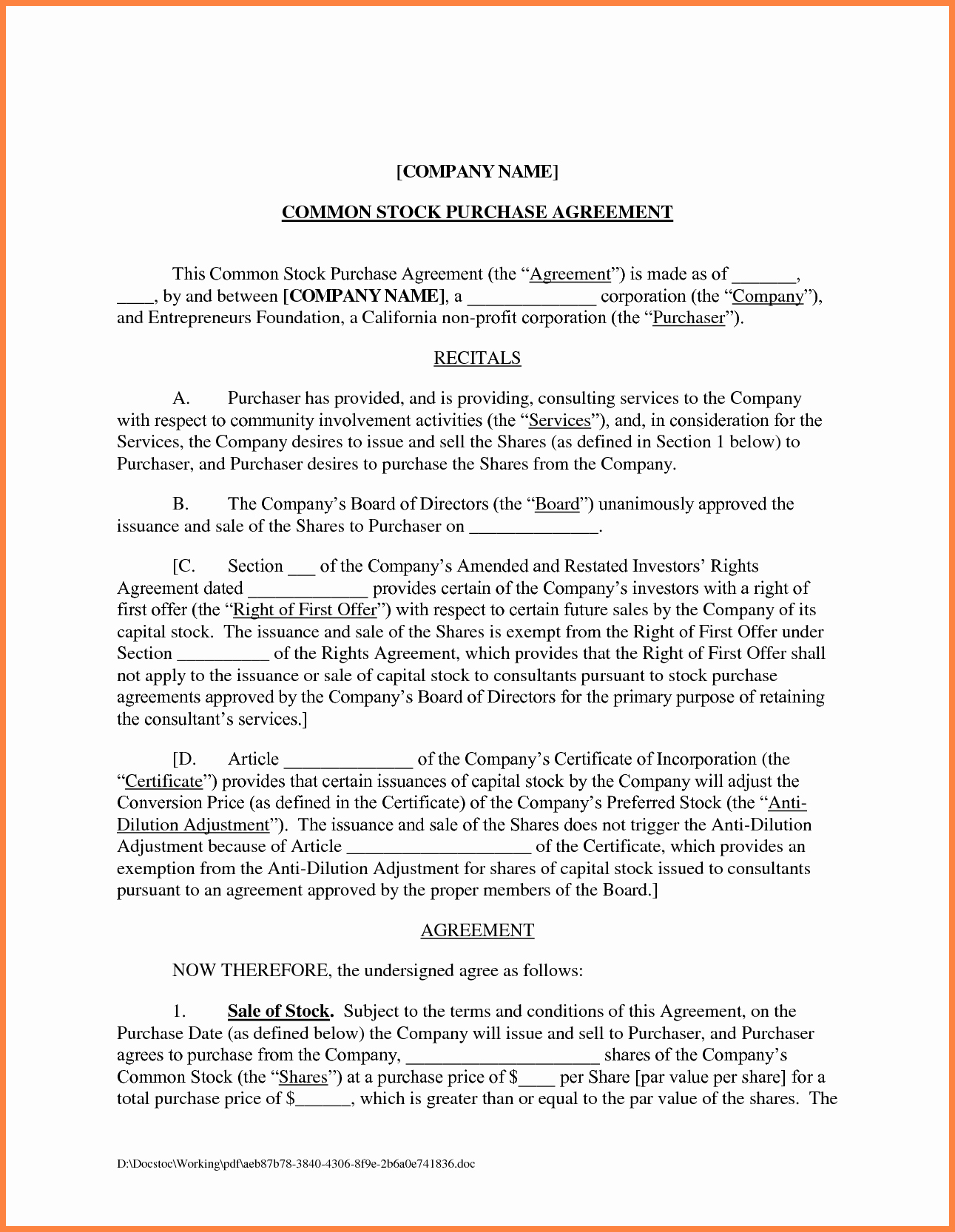 Contract Template Between Two Parties Unique 3 Business Agreement Template Between Two Parties