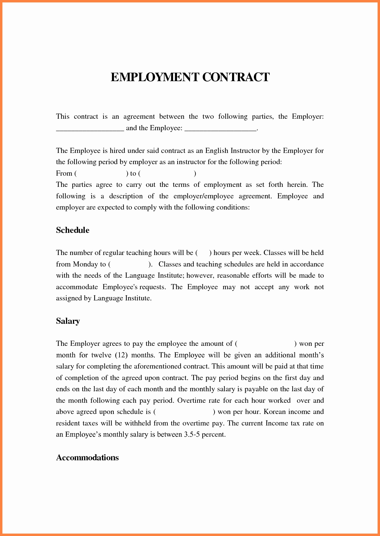 Contract Template Between Two Parties Unique 6 Contract Agreement Between Two Parties Template