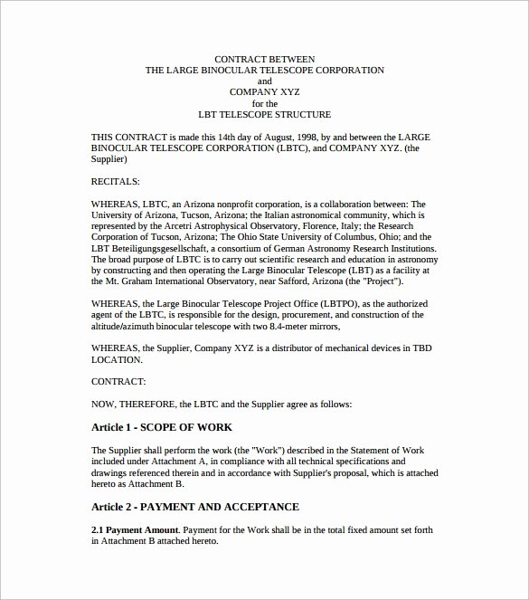 Contract Template Between Two Parties Unique Free 48 Contract Agreement Templates In Pages