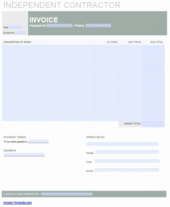Contractor Invoice Template Excel Beautiful Contractor Invoice Template – Emmamcintyrephotography