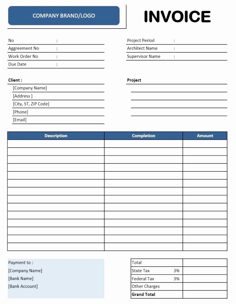 Contractor Invoice Template Excel Elegant Contractor Invoice Template Excel Templates