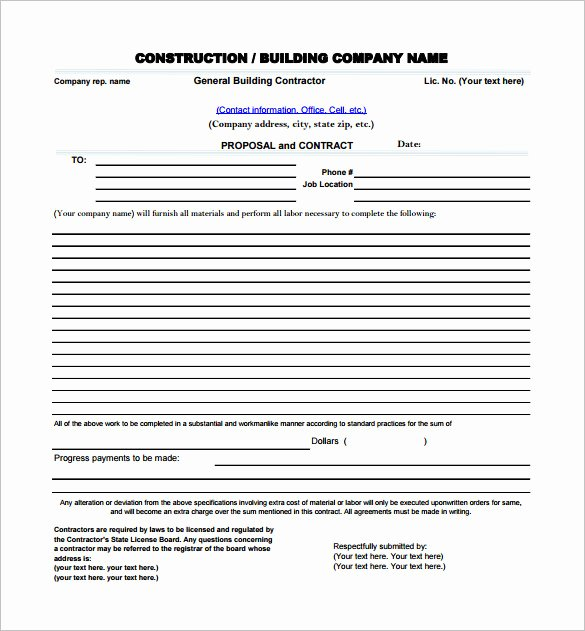 Contractor Proposal Template Free Elegant 17 Construction Proposal Templates Word Pdf Excel