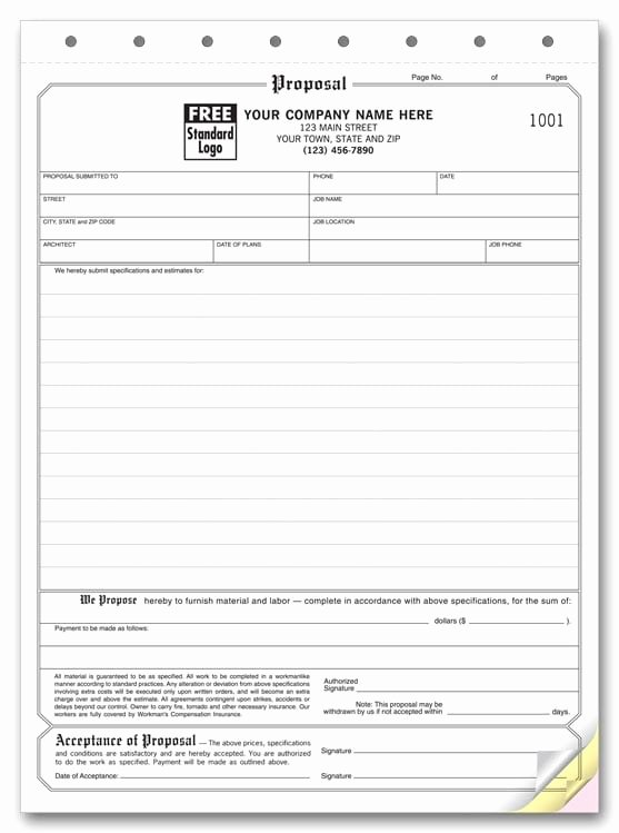 Contractor Proposal Template Free Lovely 5 Proposal form Templates formats Examples In Word Excel