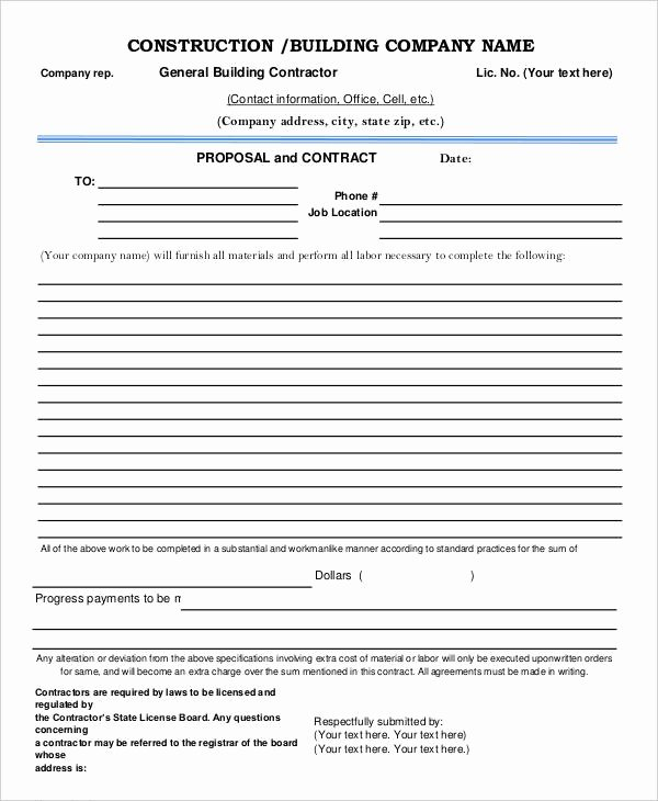 Contractor Proposal Template Pdf New 17 Contractor Proposal Templates Free Word Pdf format