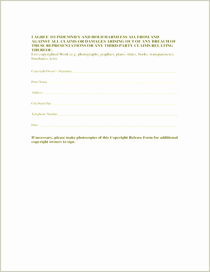 Copyright Release form Template Awesome 14 Copyright Release form Template Free