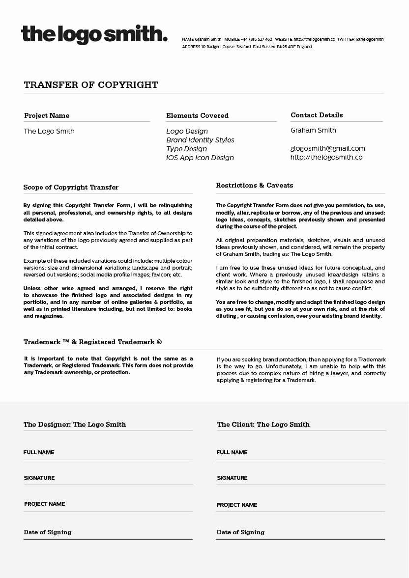 Copyright Release form Template Beautiful Copyright Release Agreement Elegant Logo Design Copyright