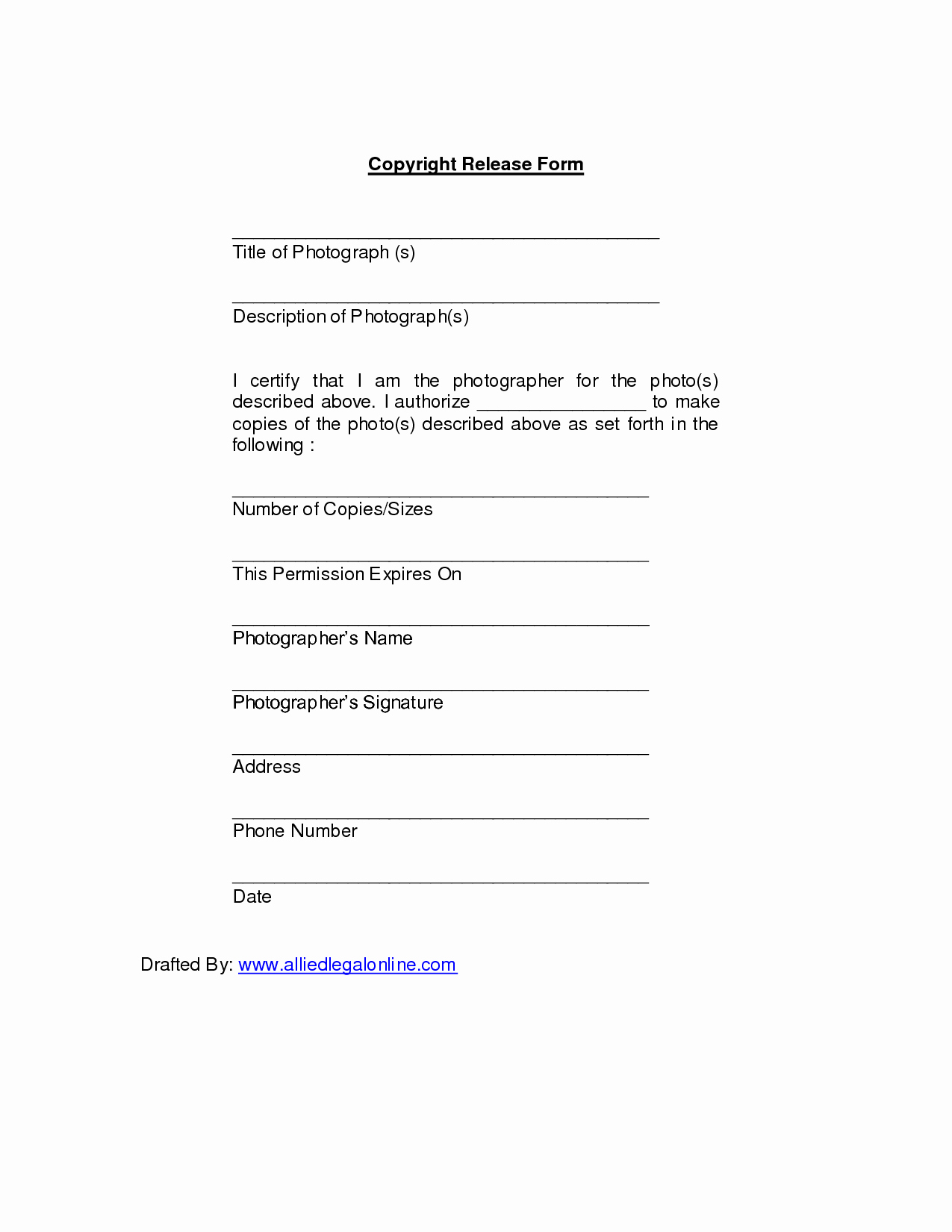 Copyright Release form Template New Copyright Release 11 Advantages Copyright Release and