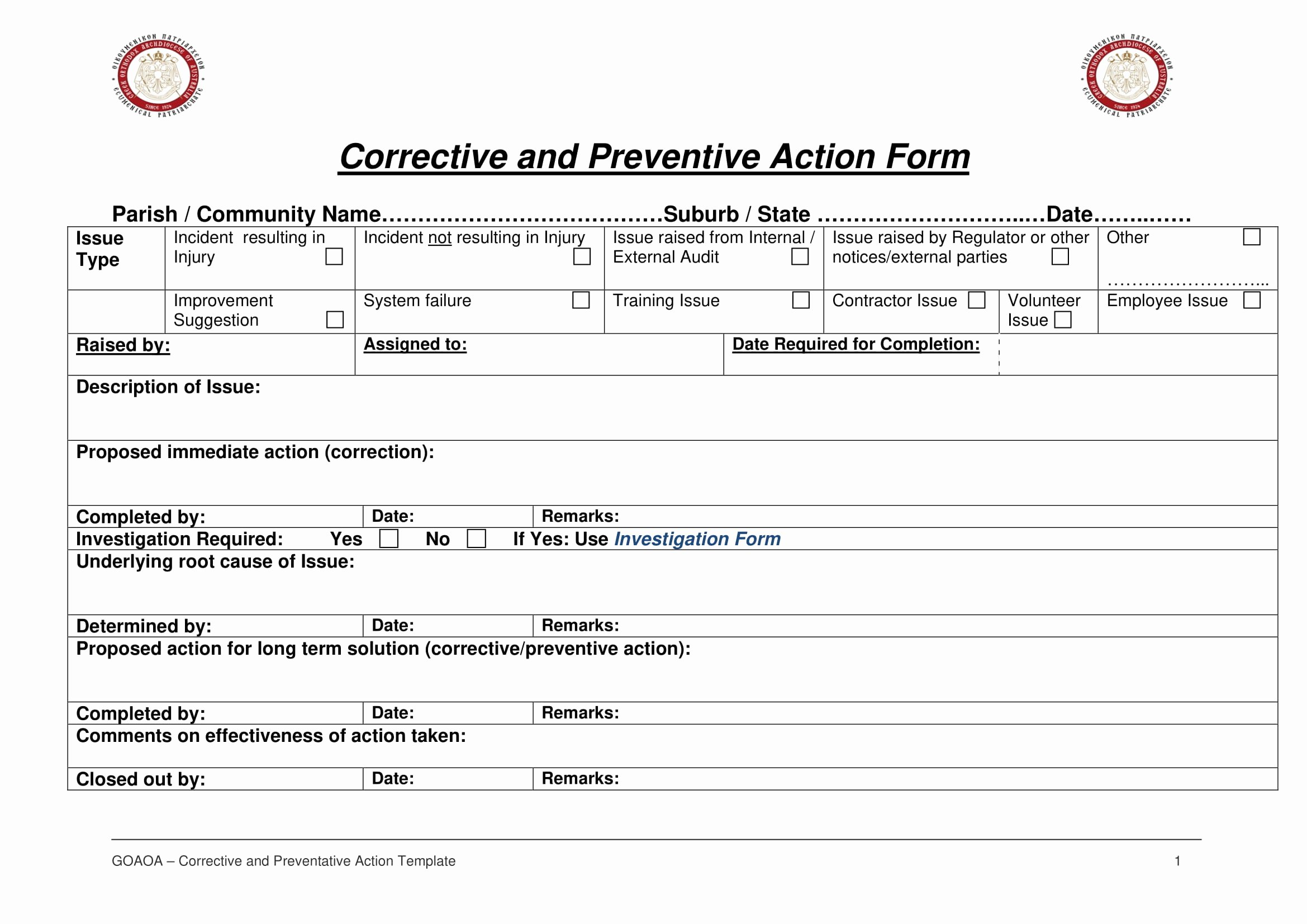 Corrective Action form Template Awesome 12 Corrective Action Report Examples Pdf